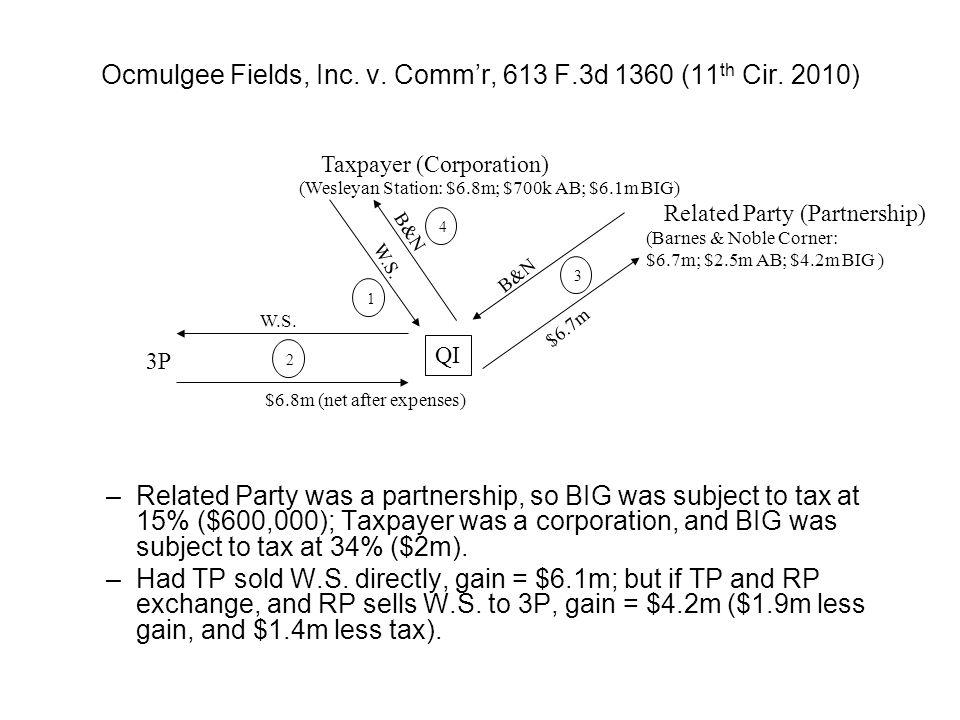 Ocmulgee Fields, Inc. v. Commr, 613 F.3d 1360 (11 th Cir.