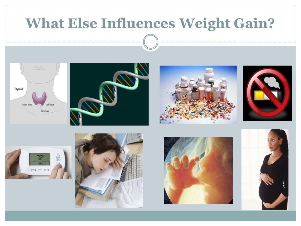 What Else Influences Weight Gain?