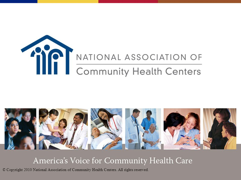 Americas Voice for Community Health Care The National Association of Community Health Centers (NACHC) represents Community and Migrant Health Centers, as well as Health Care for the Homeless and Public Housing Primary Care Programs and other community-based health centers.