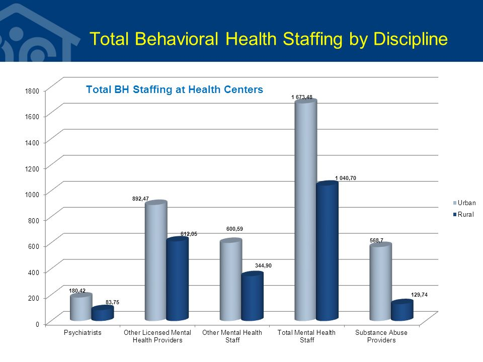 Total Behavioral Health Staffing by Discipline