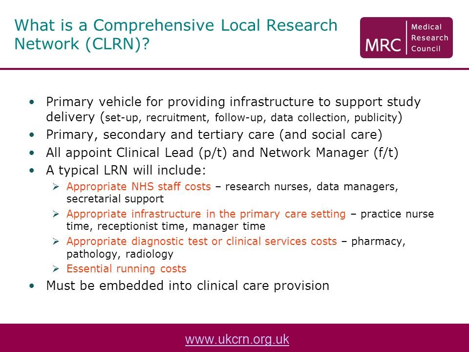 What is a Comprehensive Local Research Network (CLRN).