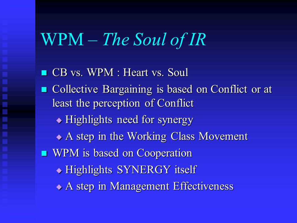 WPM – The Soul of IR CB vs. WPM : Heart vs. Soul CB vs.