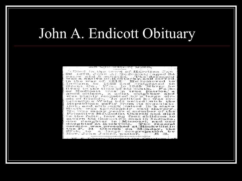 John A. Endicott Obituary