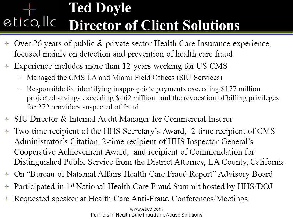 Fraudster US Health Care System
