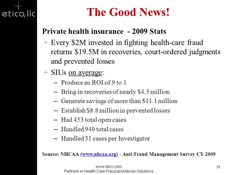 HEAT Initiative FY2009: DOJ+HHS-OIG+CMS – Charges filed for criminal health care fraud against more than 800 defendants – Secured 583 criminal convict
