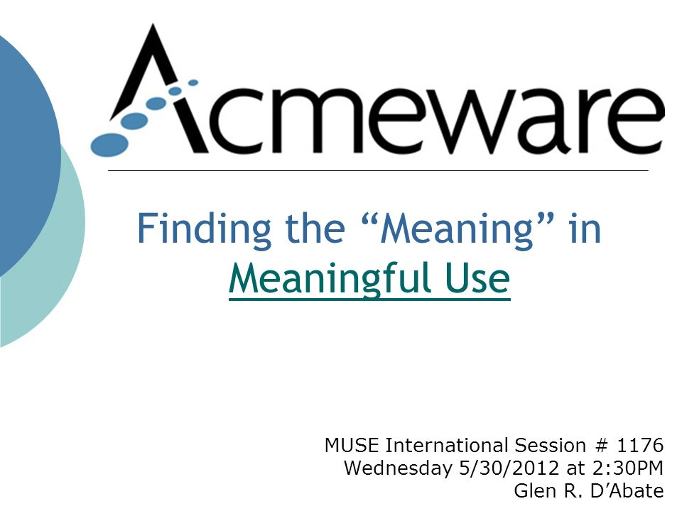 MUSE International Session # 1176 Wednesday 5/30/2012 at 2:30PM Glen R.