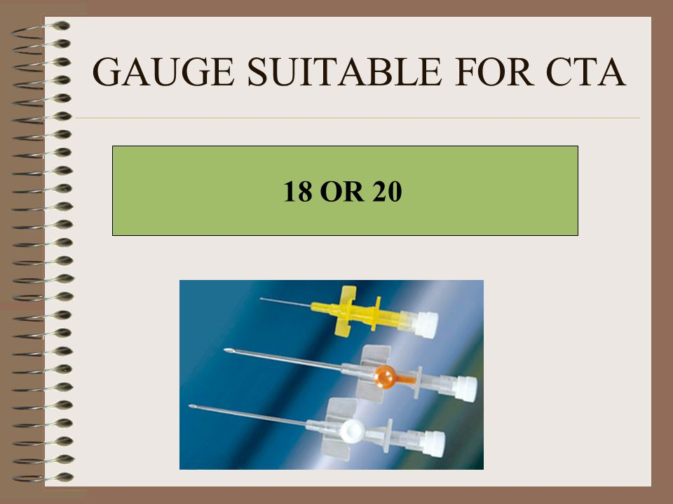 GAUGE SUITABLE FOR CTA 18 OR 20