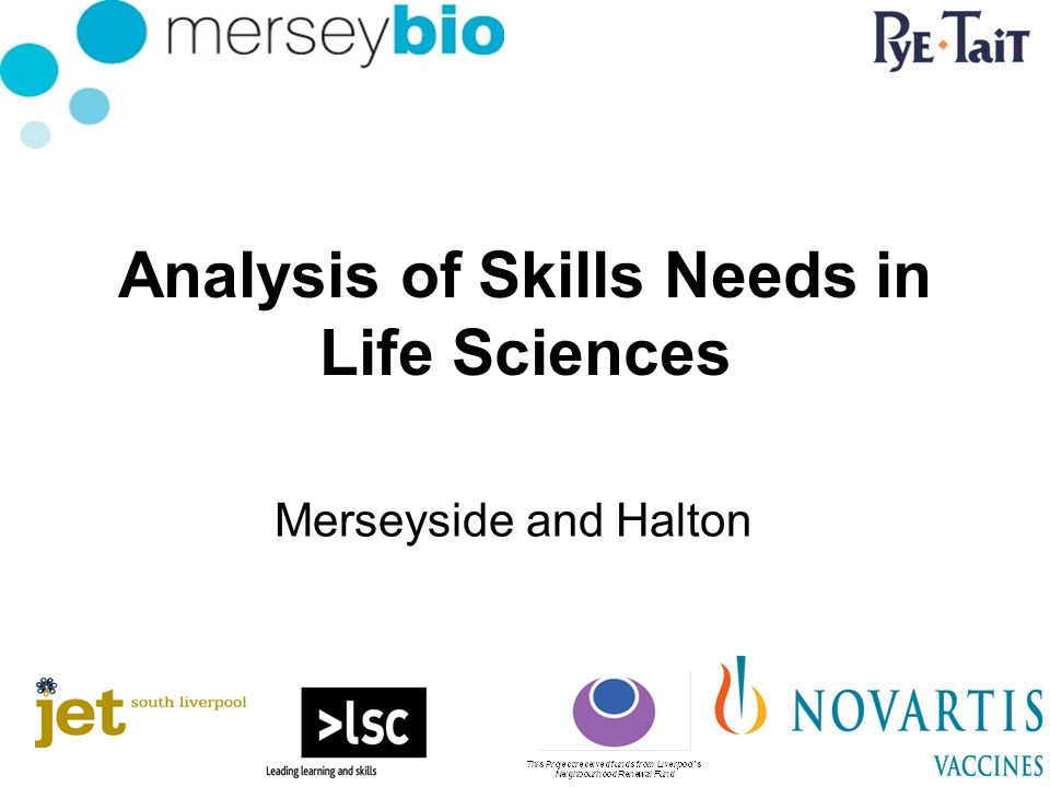 Analysis of Skills Needs in Life Sciences Merseyside and Halton