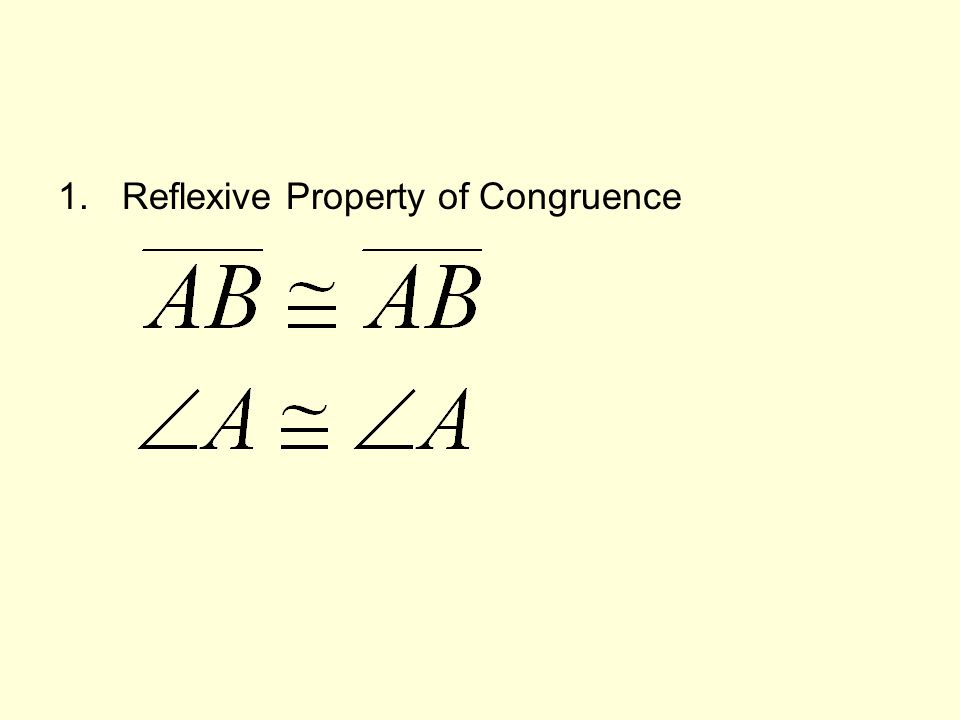 1.Reflexive Property of Congruence