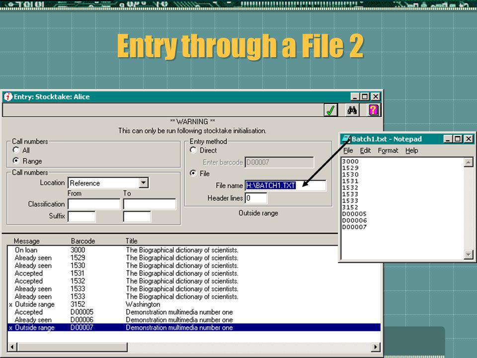 Alice StocktakeMartin Hood – OASIS Extras Entry through a File 2