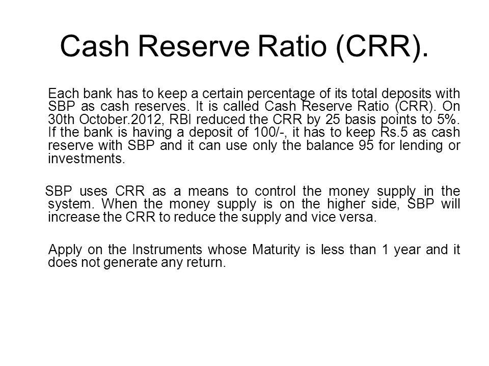 Cash Reserve Ratio (CRR).