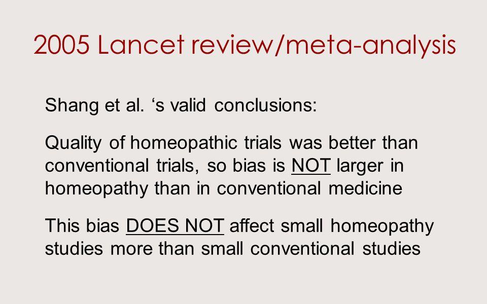 2005 Lancet review/meta-analysis Shang et al.