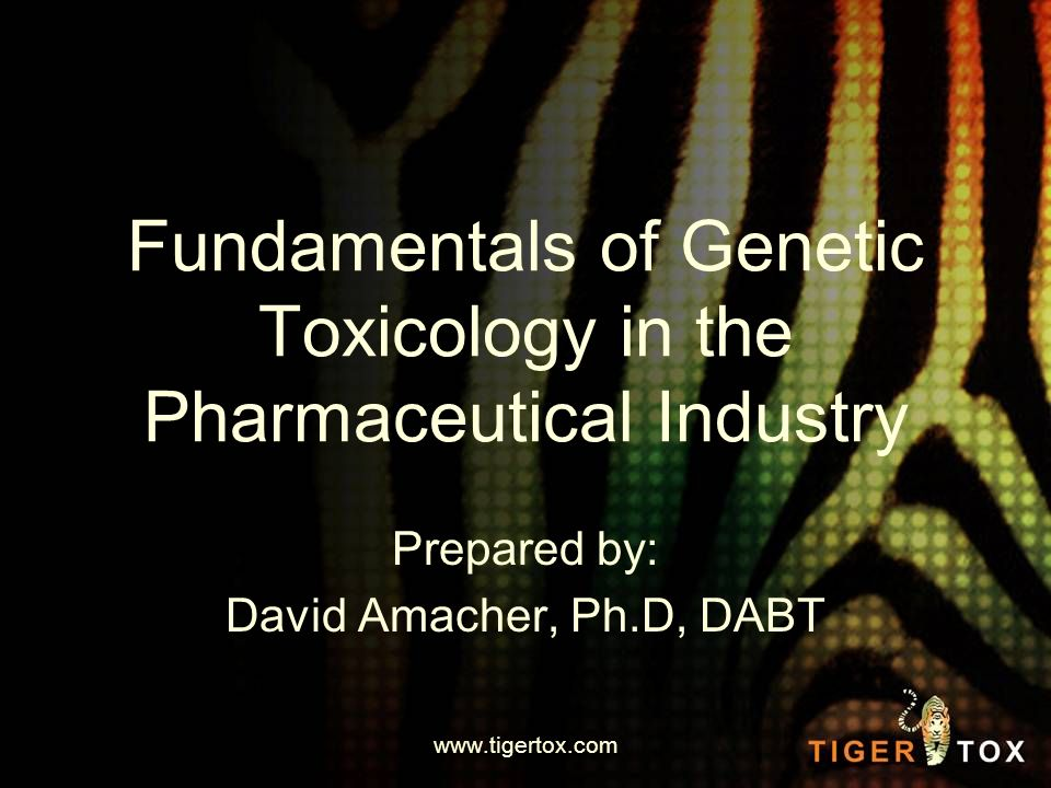 What is Genetic Toxicology.