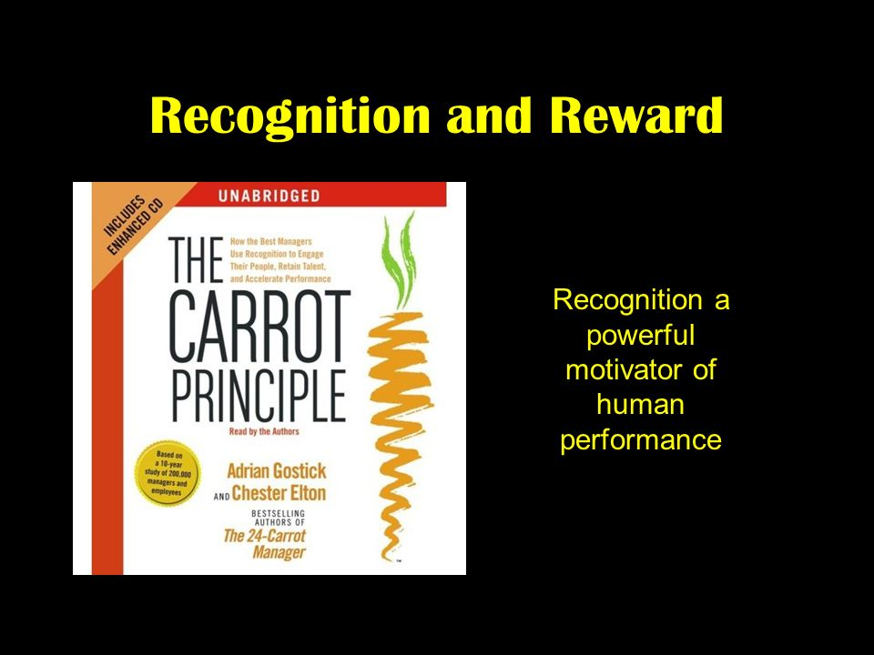 Recognition and Reward Recognition a powerful motivator of human performance