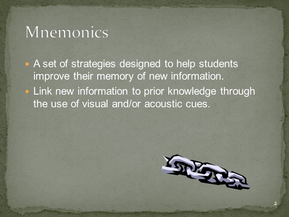 A set of strategies designed to help students improve their memory of new information.