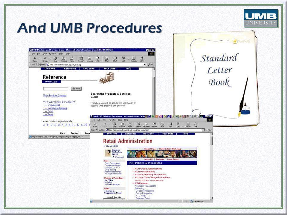 And UMB Procedures