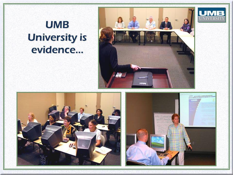 UMB University is evidence…