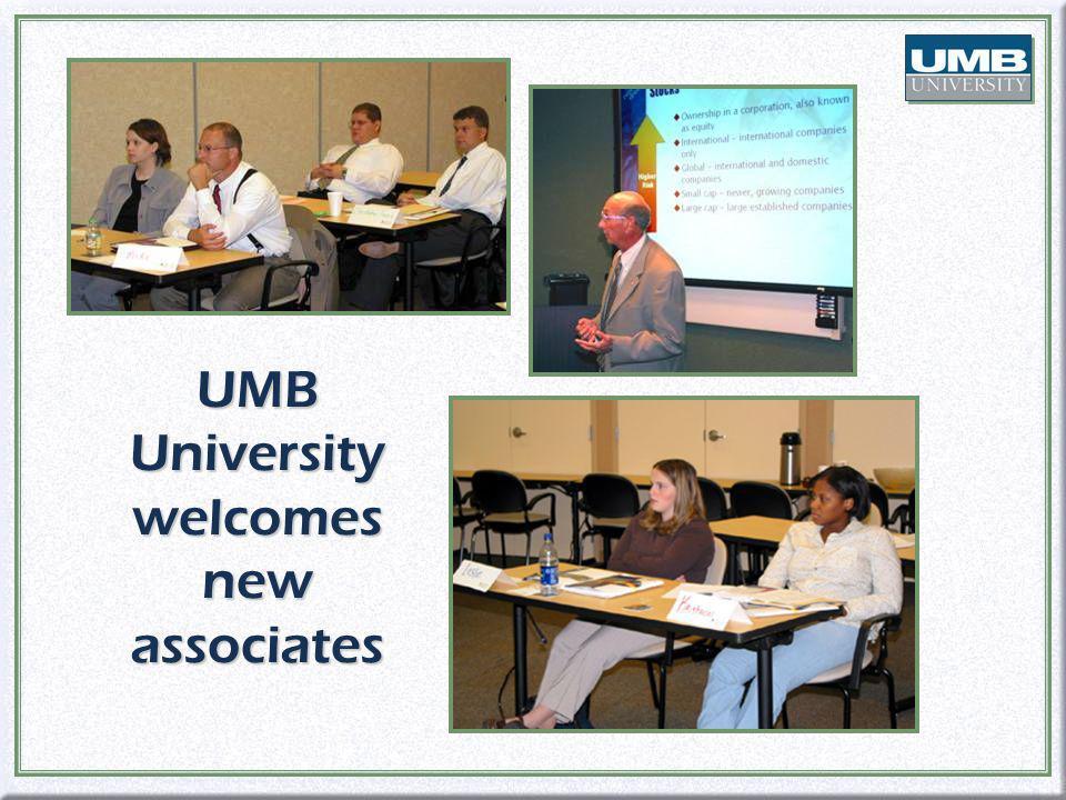 UMB University welcomes new associates