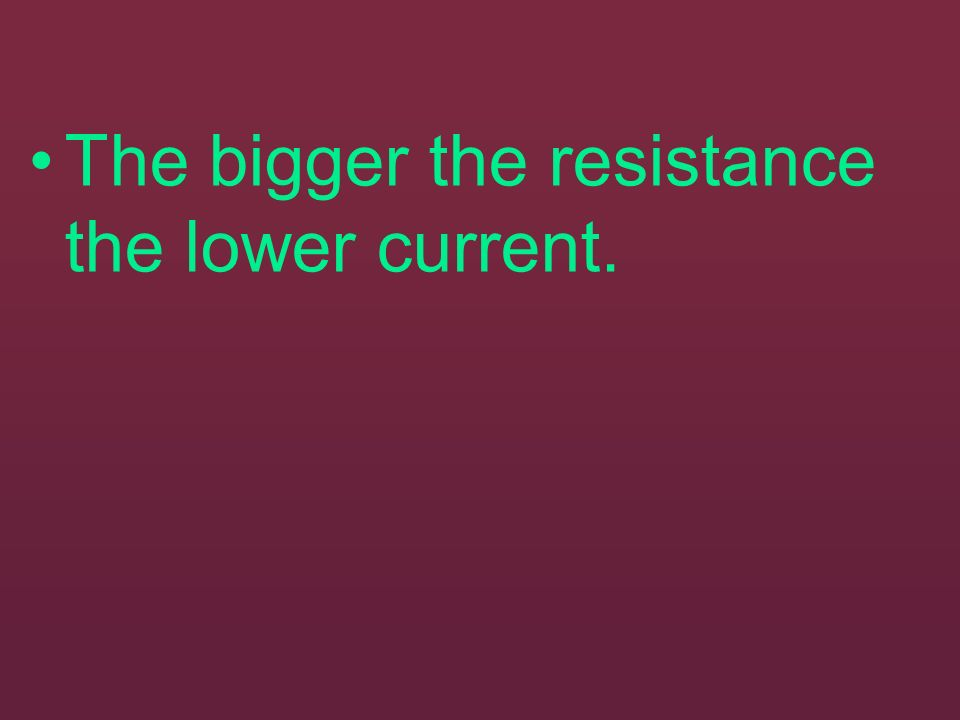 Resistance is a property of a substance that limits the flow of electrons through it. Conductors have a very low resistance. Insulators have a very hi