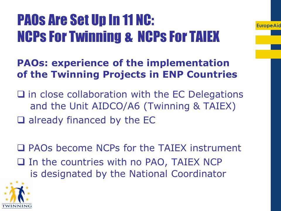 EuropeAid Nb of TAIEX requests originated by NC&R or initiated by EC-DGs: 2006-07 (31.10.2007)
