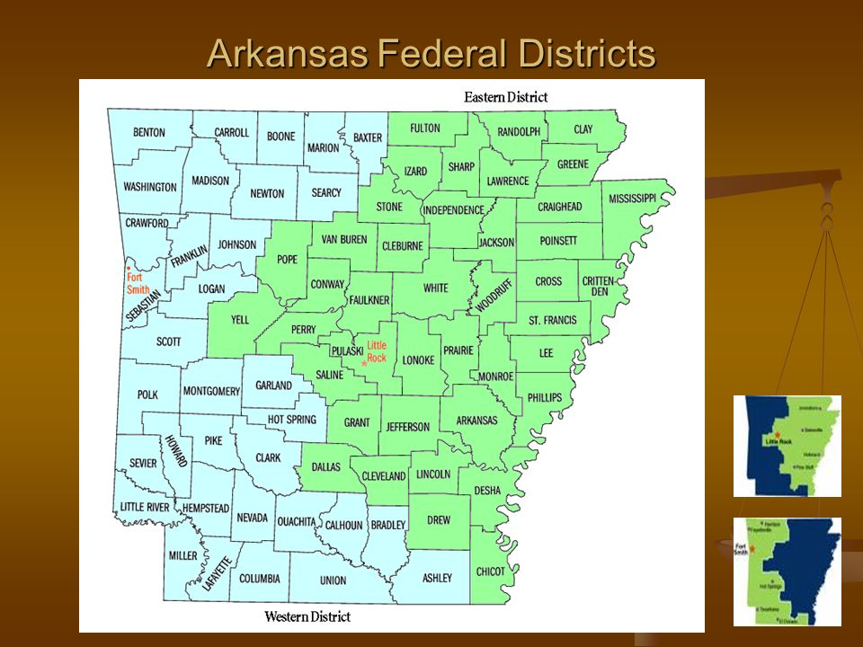 Arkansas Federal Districts