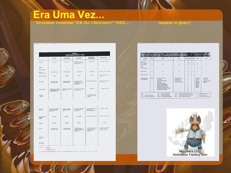 Era Uma Vez... Основни понятия CA for clinicians 1983…(важат и днес)