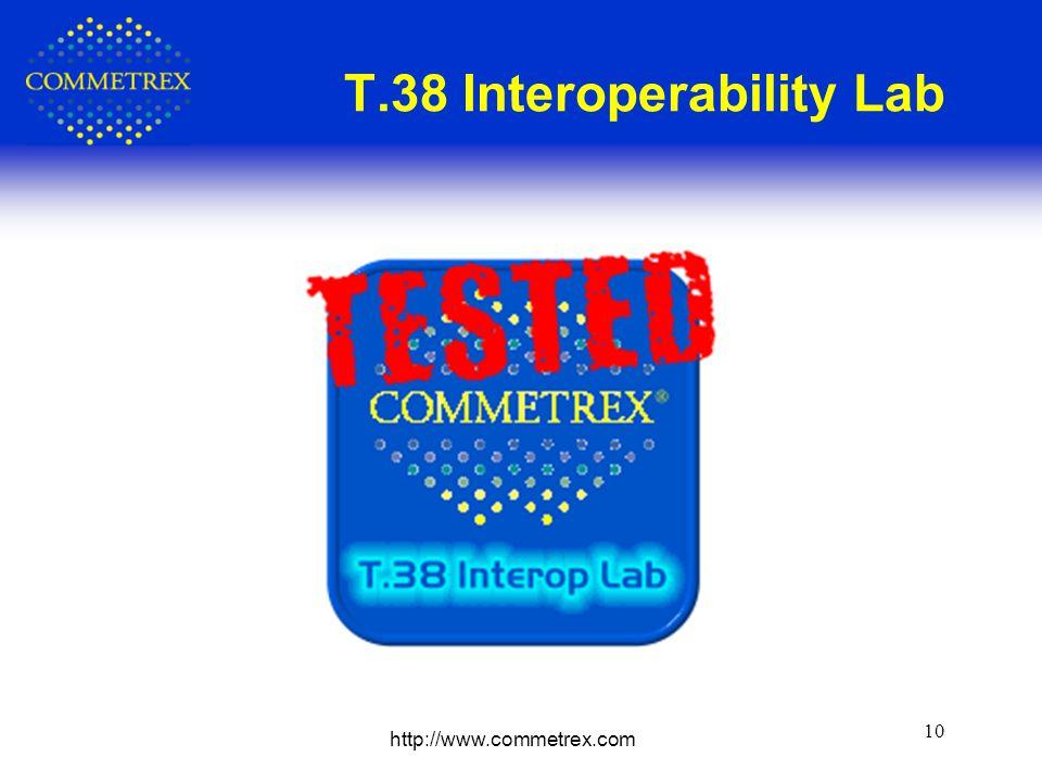 http://www.commetrex.com 10 T.38 Interoperability Lab