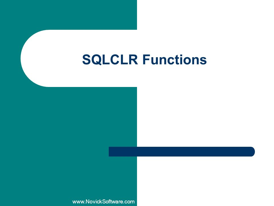 SQLCLR Functions