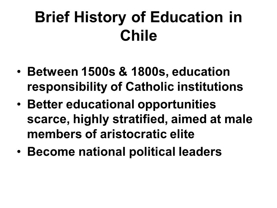 Early 20th Century An educational reform solidifies public education Ministry of Education born Centralized educational policies applied Free text books, basic school supplies support elementary education
