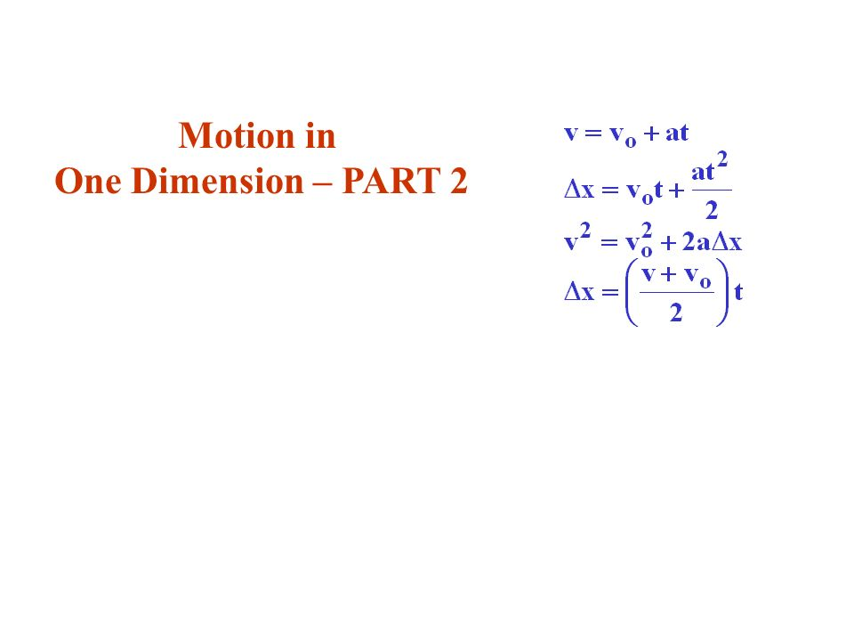 Average velocity Average acceleration Kinematics with Constant Acceleration Definitions Review