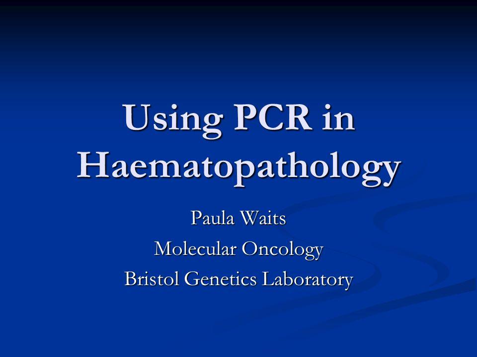 Using PCR in Haematopathology Paula Waits Molecular Oncology Bristol Genetics Laboratory