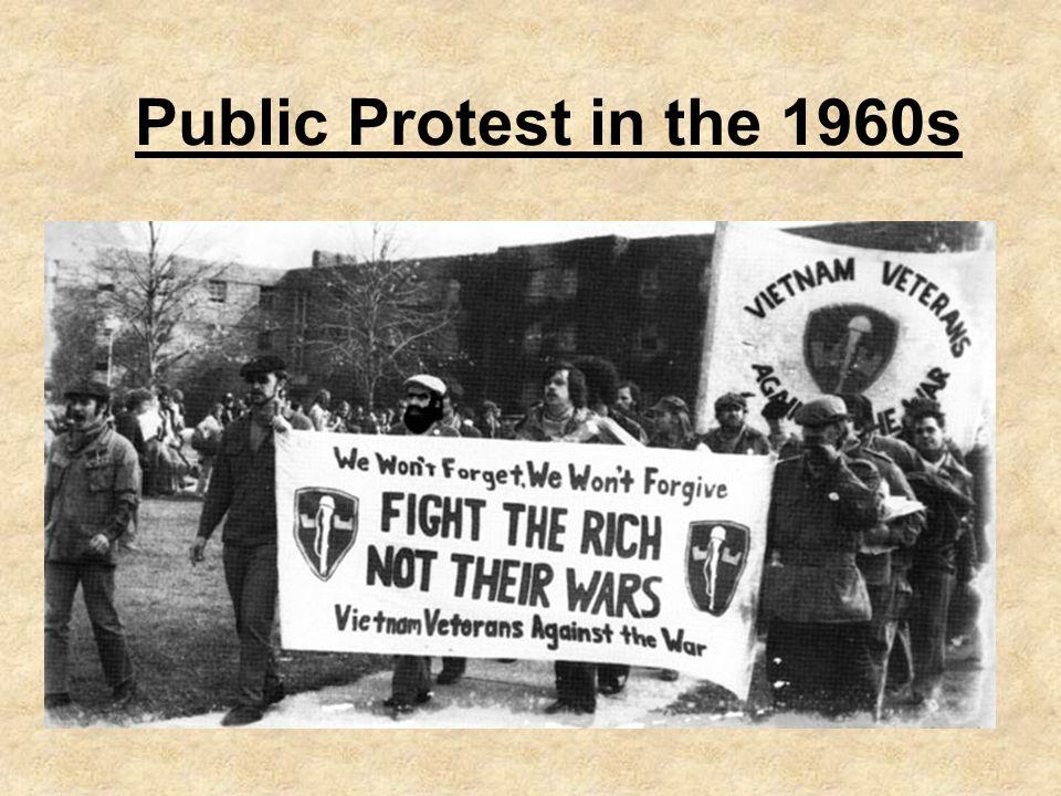 Public Protest in the 1960s