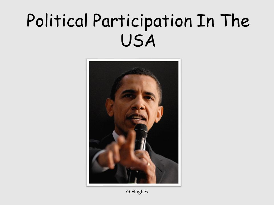 Political Participation In The USA G Hughes