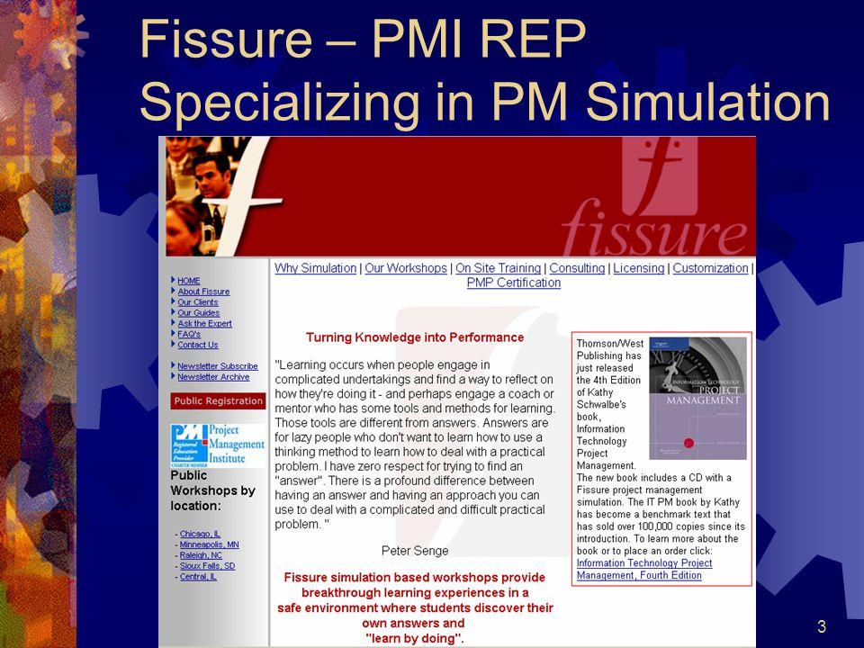 3 Fissure – PMI REP Specializing in PM Simulation