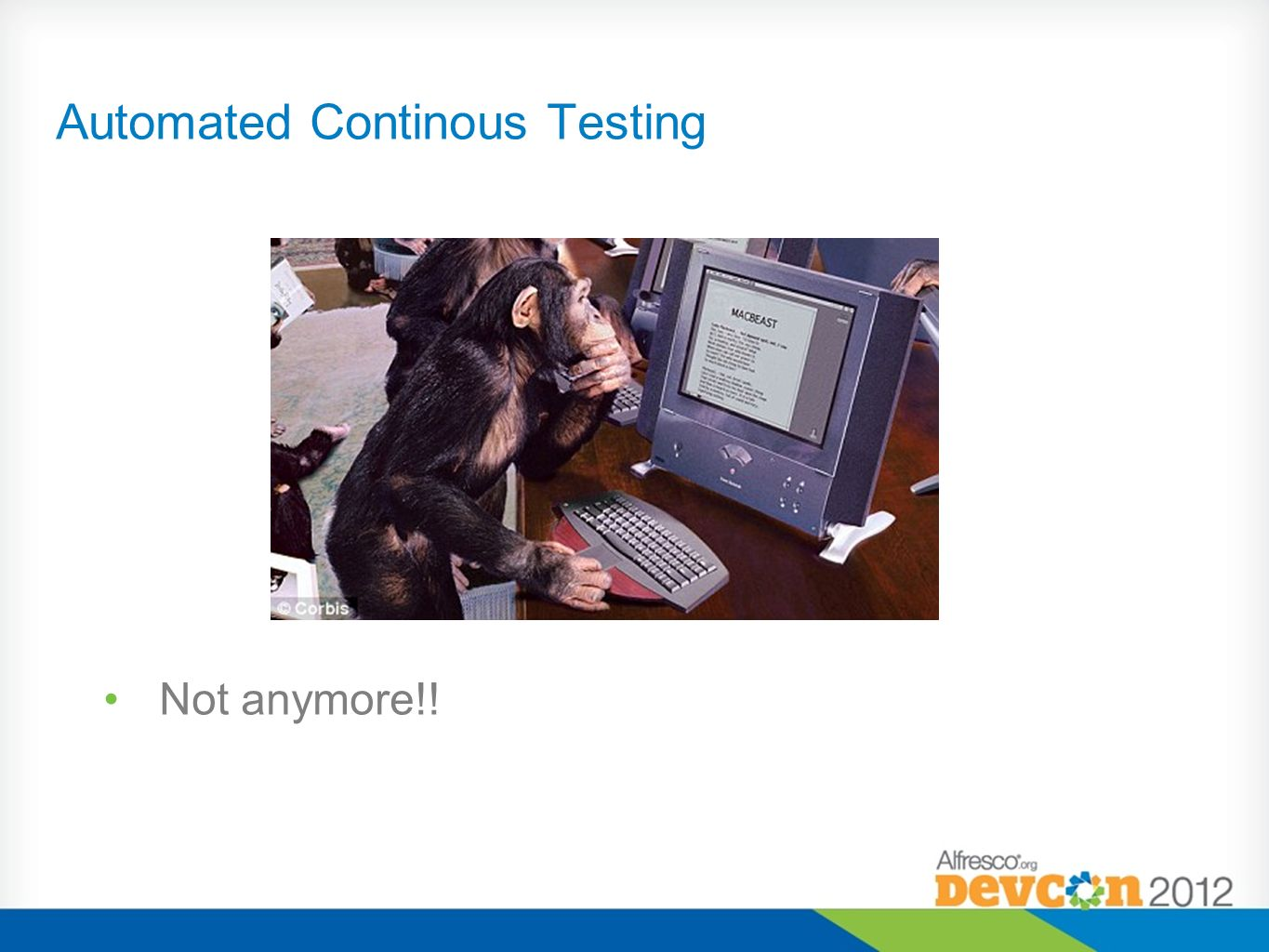 Automated Continous Testing Not anymore!!
