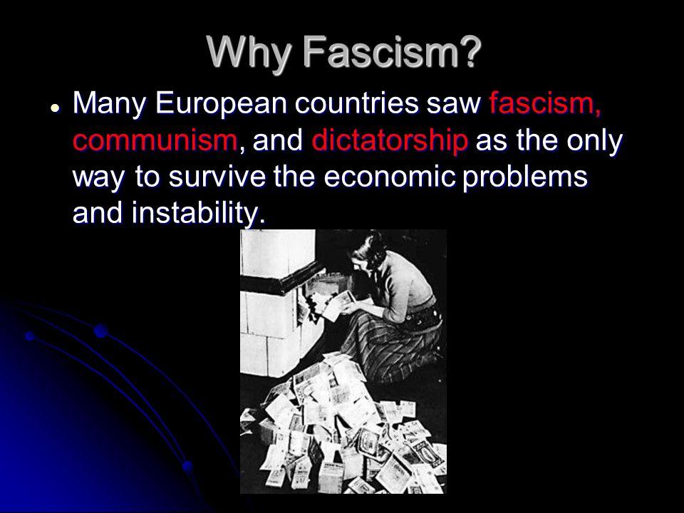 Why Fascism.