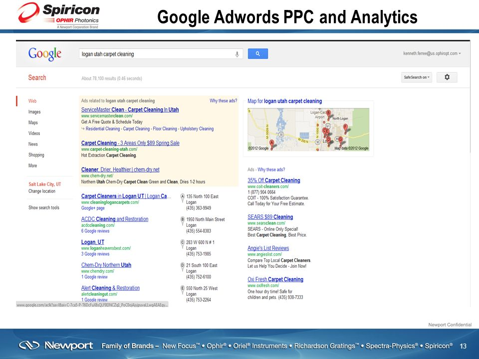 13 Google Adwords PPC and Analytics