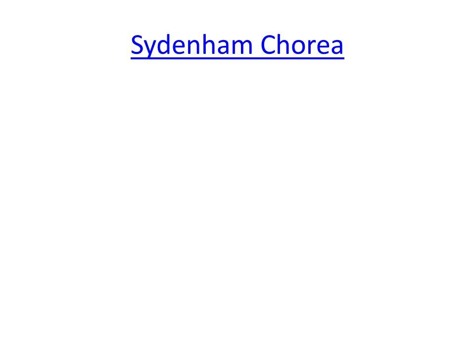 Sydenham Chorea