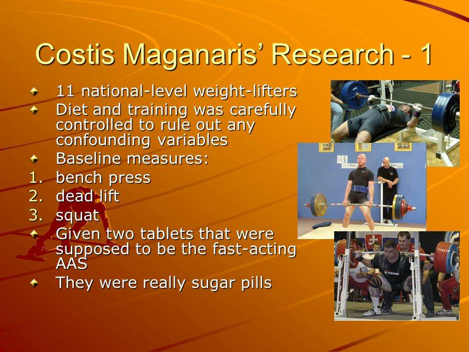 Costis Maganaris Research - 1 11 national-level weight-lifters Diet and training was carefully controlled to rule out any confounding variables Baseli