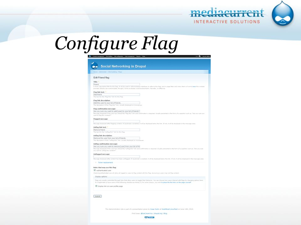 Configure Flag