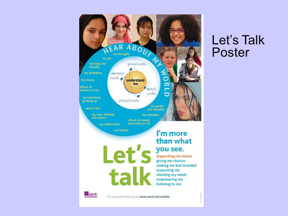Lets Talk Poster