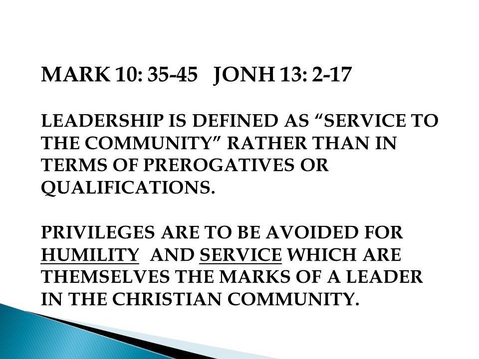 LOOKING AT LEADERSHIP THROUGH THE SCRIPTURES: MT.18 - SPEAKS OF COLLECTIVE LEADERSHIP; LK.
