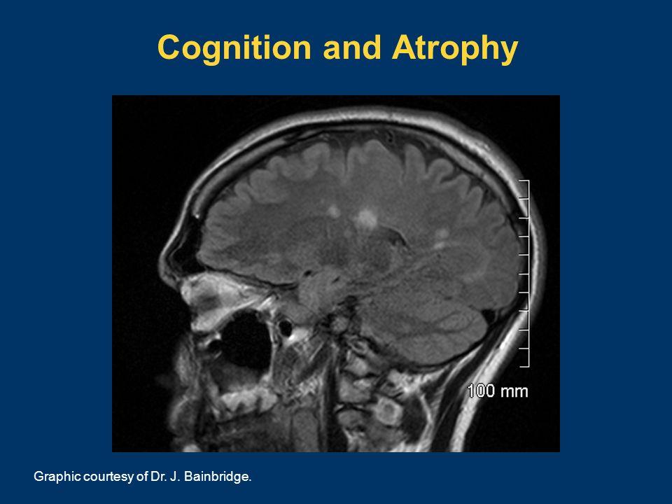 Cognition and Atrophy Graphic courtesy of Dr. J. Bainbridge.