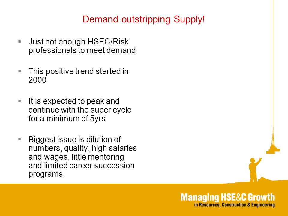 Demand outstripping Supply.