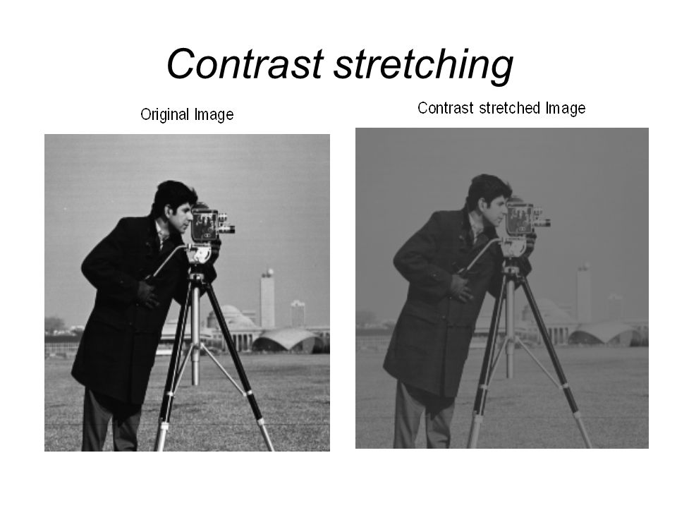 Contrast stretching