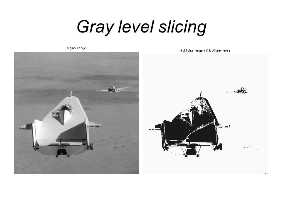 Gray level slicing