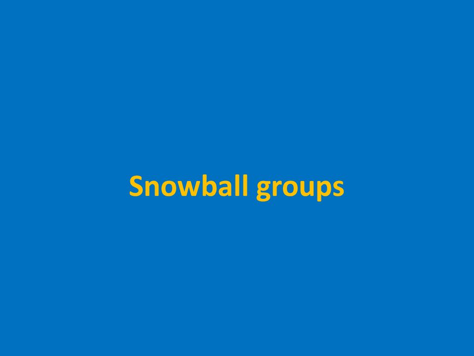 Snowball groups
