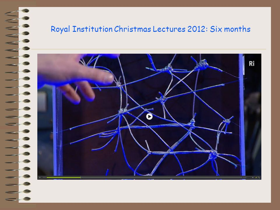 Royal Institution Christmas Lectures 2012: Six months
