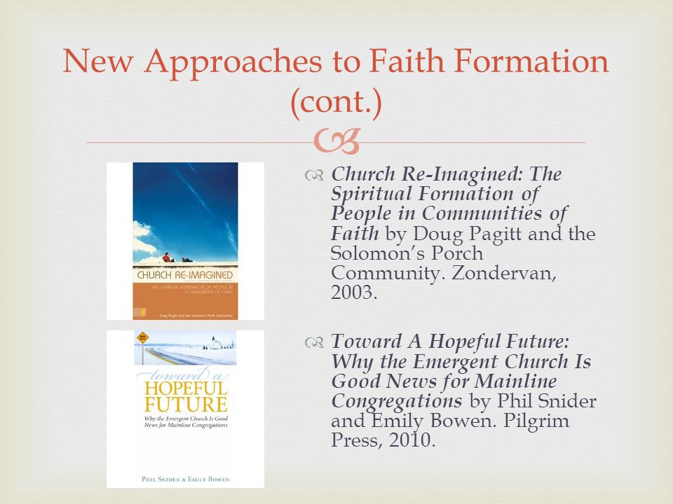 Church Re-Imagined: The Spiritual Formation of People in Communities of Faith by Doug Pagitt and the Solomons Porch Community.