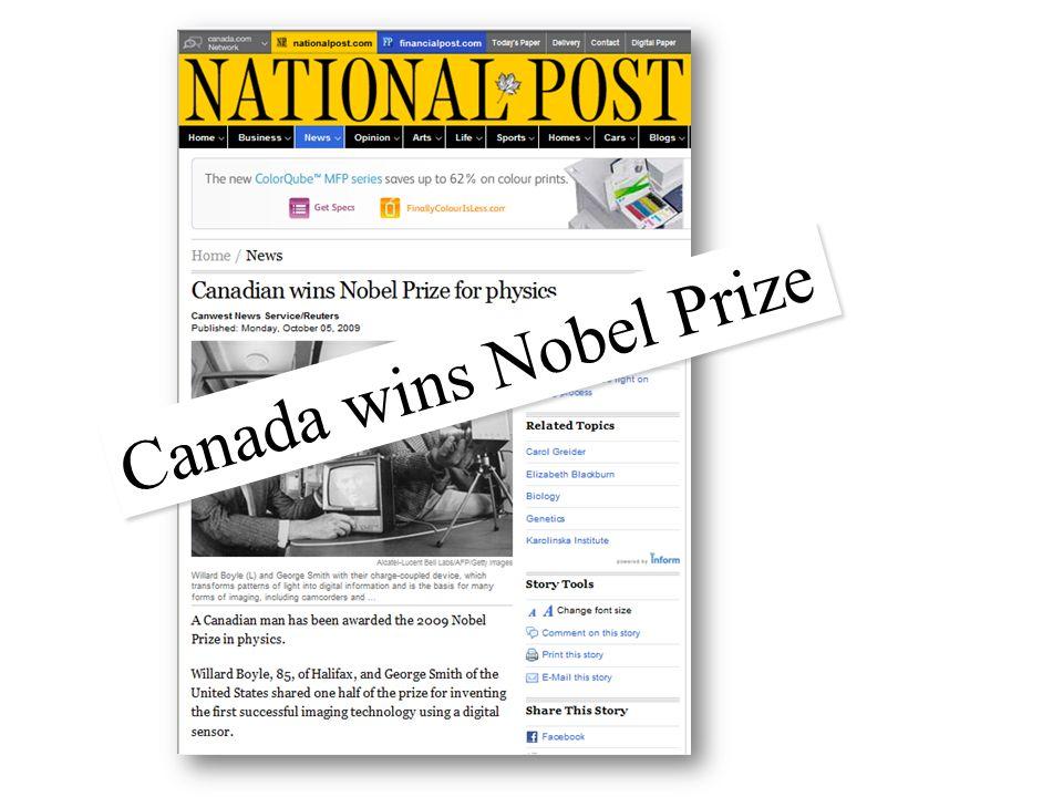 Canada wins Nobel Prize
